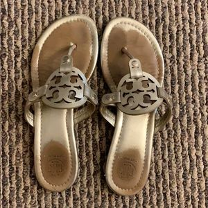 Tory Burch gold Miller sandals size 7.5